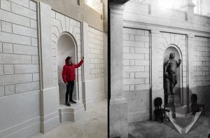 Lentvario dvare Kiguolis pastatė savo pačio statulą