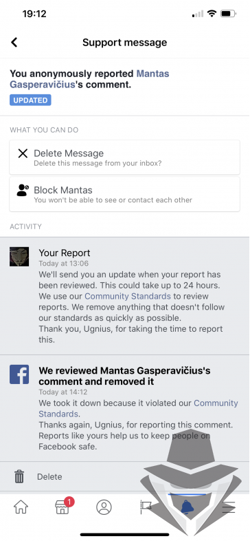 facebooko sprendimas