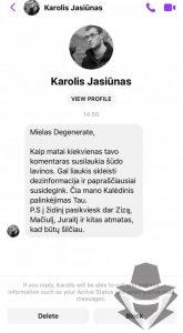 """Karolis Jasiūnas - šiuolaikinio """"fašisto"""" pavyzdys"""