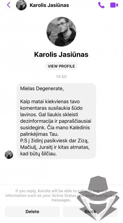 Karolio Jasiūno komentaras